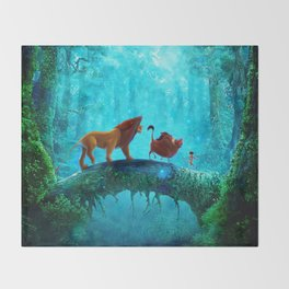 King Of Jungle Throw Blanket