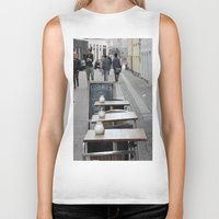 copenhagen Biker Tanks featuring Copenhagen street cafe by RMK Photography