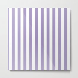 Lavender Small Even Stripes Metal Print
