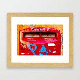 Rome: Poste Framed Art Print