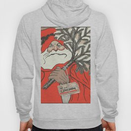 Christmas Pudding And Vintage Santa Vector Hoody