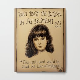 (Krysten Ritter - Don't trust the bitch in apartment 23) - yks by ofs珊 Metal Print