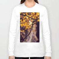 bokeh Long Sleeve T-shirts featuring Bokeh by Beata Heart