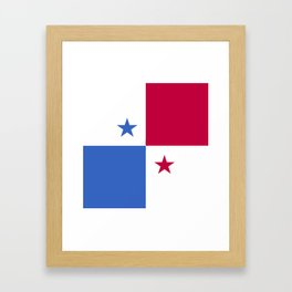 Panama flag emblem Framed Art Print