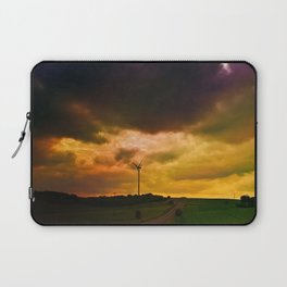 clouds heavy mill meadows cloudy evening bad weather Laptop Sleeve