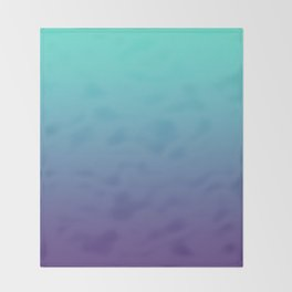 Ultra Violet Teal Ombre Gradient Pattern | Trendy color of the Year 2018 Throw Blanket