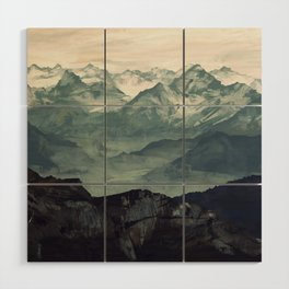 Mountain Fog Wood Wall Art