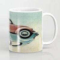 ying yang Mugs featuring vw  ying and yang by Vin Zzep