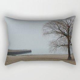 Gloomy Day at the beach Rectangular Pillow
