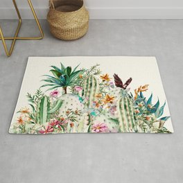 Blooming in the cactus Rug