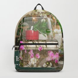 Paris Flower Shop Window Backpack