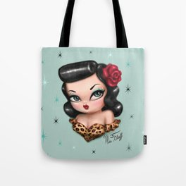 Rockabilly Baby Doll Tote Bag