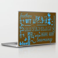 ravenclaw Laptop & iPad Skins featuring Ravenclaw by husavendaczek