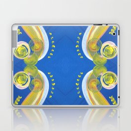 Transitions - Yellow Blue Reflections - Safe or Trapped? Laptop & iPad Skin