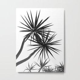 Tropical Vibes   Black and White Metal Print