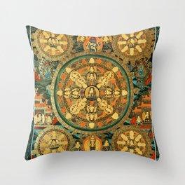 Mandala Buddhist 41 Throw Pillow