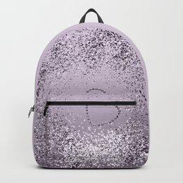 Sparkling LAVENDER Lady Glitter Heart #1 (Faux Glitter) #decor #art #society6 Backpack
