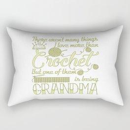 Crochet Grandma Rectangular Pillow