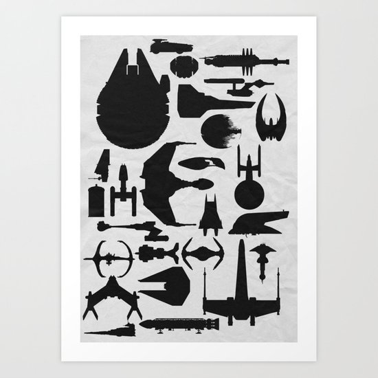 Famous Sci Fi Ships Art Print