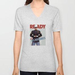 Ready -- Join U.S. Marines Unisex V-Neck