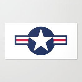 US Airforce style roundel star - High Quality image Canvas Print