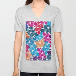 Colorful geometric Shapes Unisex V-Neck