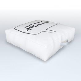 Hello! [Speach Bubble] Outdoor Floor Cushion