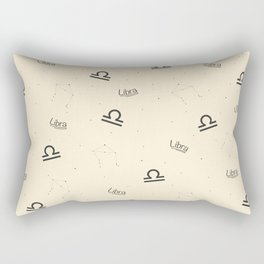 Libra Pattern - Beige Rectangular Pillow