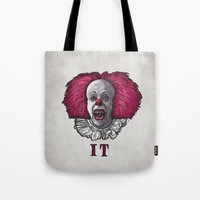 pennywise Tote Bags featuring Pennywise by zinakorotkova