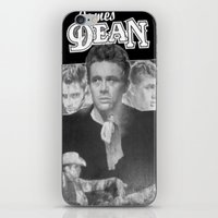 50s iPhone & iPod Skins featuring  Dean Poster (Circa mid 50s) by Chris' Landscape Images & Designs