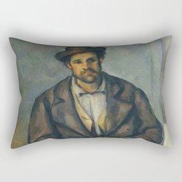 Paul Cézanne - Seated Peasant (1892–96) Rectangular Pillow