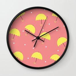 Polka dots rain Wall Clock