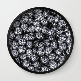 It's Full of Disco / 3D render of hundreds of shiny mirror balls Wall Clock