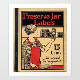 Preserve Jar Labels Booklet Cover Art Print