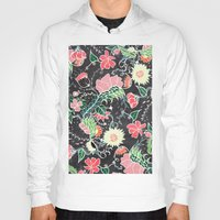 preppy Hoodies featuring Pastel preppy hand drawn garden flowers chalkboard by Girly Trend