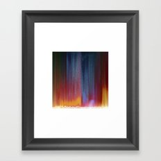 Pixel Curtain Framed Art Print