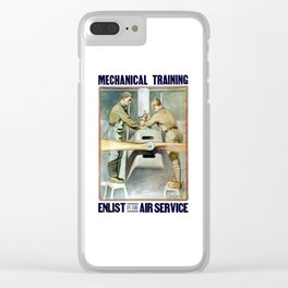 Enlist In The Air Service Clear iPhone Case
