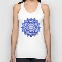 jazzberry blue Tank Tops featuring ókshirahm sky mandala by Peter Patrick Barreda