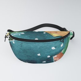 Turquoise Swirl Fanny Pack