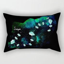 Scorpio Constellation in Turquoise - Star Signs and Birth Stones Rectangular Pillow