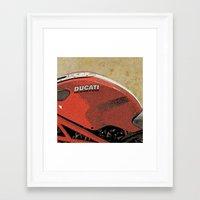 ducati Framed Art Prints featuring Ducati Monster by Larsson Stevensem