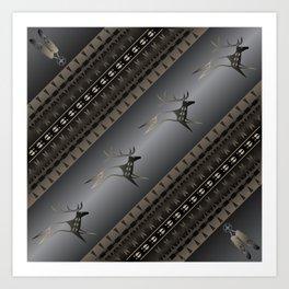 Elk Spirit (Gray) Art Print