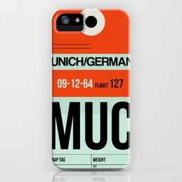 MUC Munich Luggage Tag 2 iPhone Case