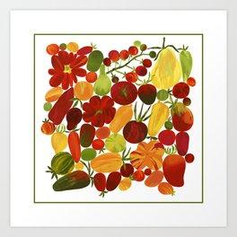 Whimsical Fruit Salad Art Print