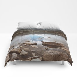 Mountain Lake - Landscape and Nature Photography Comforters