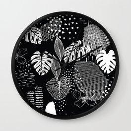 Issa Tropical B&W Wall Clock