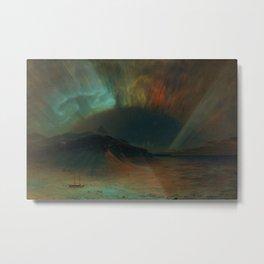 Classical Masterpiece 'Aurora Borealis' by Frederic Edwin Church Metal Print