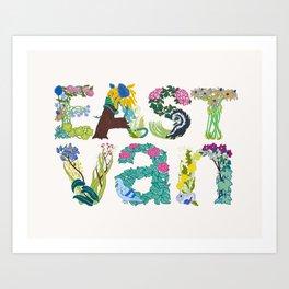 East Van colour Art Print