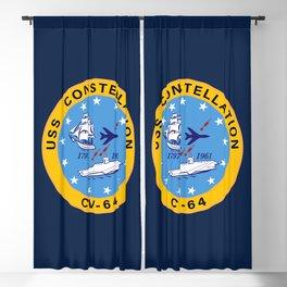 USS Constellation CV-64 Aircraft Carrier Insignia Blackout Curtain