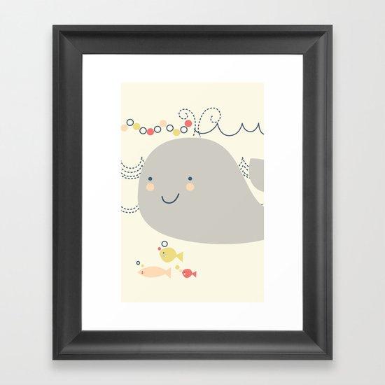 Whaley on the sea Framed Art Print